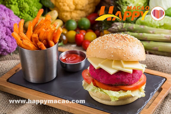 _Copa_Steakhouse_-__Daiya_Cheese_Vegan-Beefless_Burger_Sweet_Potato_Fries_Tomatoes_Onions_and_Lettuce_1