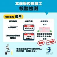 教職工及跨境學生免費核酸檢測計劃