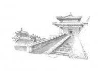 水墨紫禁城限量石版畫