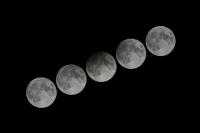 澳門上空出現半影月食
