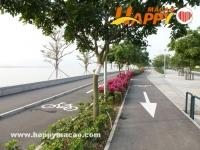 氹仔海濱休憩區單車徑開放啦!