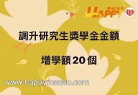 20/21學年研究生獎學金調升金額及增名額