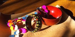 日式彩色拭漆木器陶瓷工作坊