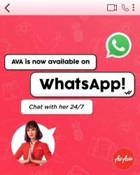 AirAsia 虛擬客服AVA 開通WhatsApp聯天功能