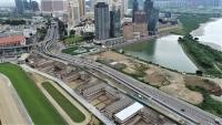 奧林匹克游泳館圓形地行車天橋將開通