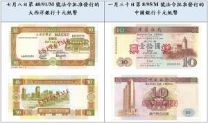 兩款十元紙幣回收期下週屆滿